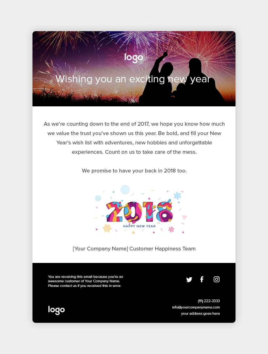 Happy New Year Email - Yeah Emails